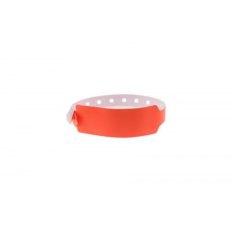 Bracelets événementiels plastique vinyle Extra-large - Mat - Orange (lot de 100)