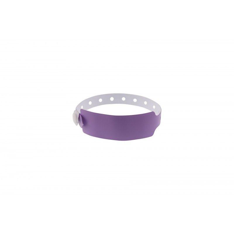 Bracelets événementiels plastique vinyle Extra-large - Mat - Violet (lot de 100)