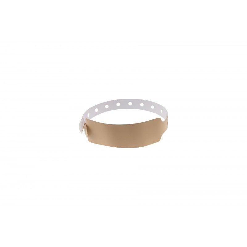 Bracelets événementiels plastique vinyle Extra-large - Mat - Crème (lot de 100)