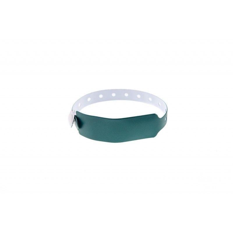 Bracelets événementiels plastique vinyle Extra-large - Métal - Vert (lot de 100)