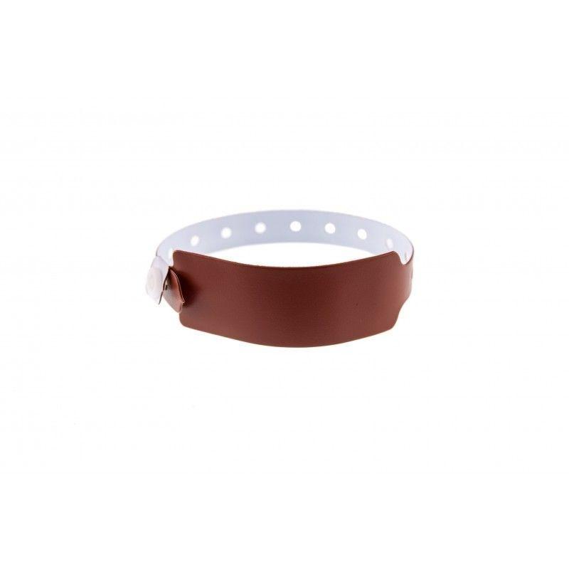 Bracelets événementiels plastique vinyle Extra-large - Mat - Marron (lot de 100)