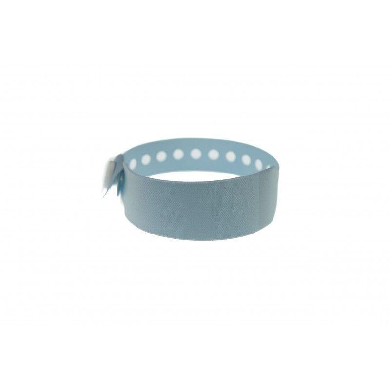 Bracelet hôpital avec étiquette - Taille enfant - Bleu pâle (lot de 100)