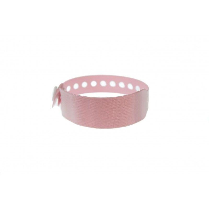 Bracelet hôpital avec étiquette - Taille enfant - Rose pâle (lot de 100)