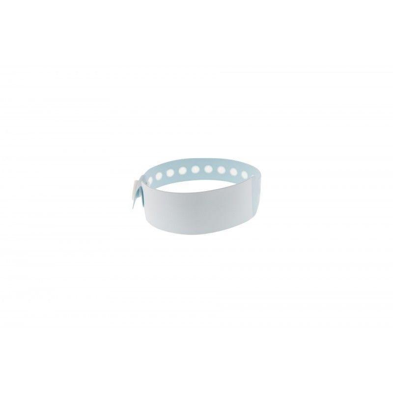 Bracelet hôpital - panneau d'écriture - Taille enfant - Bleu pâle (lot de 100)