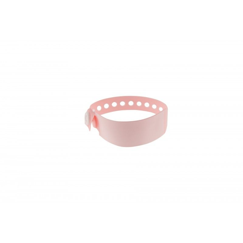 Bracelet hôpital - panneau d'écriture - Taille enfant - Rose pâle (lot de 100)