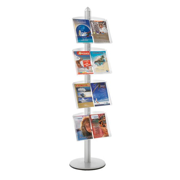 Présentoir Visual-Displays® 4 étagères - Ø 45 cm x H 190 cm