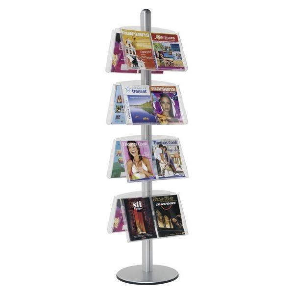 Présentoir Visual-Displays® 8 étagères double-faces - Ø 45 cm x H 190 cm