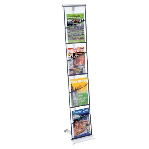 Présentoir pliant Brochure-Displays® 4 poches en nylon – L 29 x P 35 x H 146