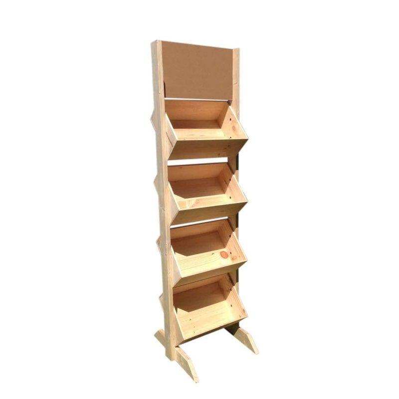 Présentoir bois 4 niveaux - Hauteur 195 cm