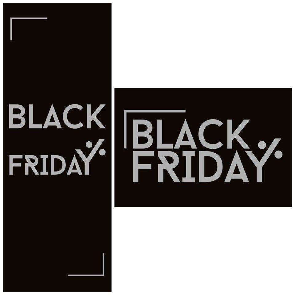 Kit d'affiches N°1 Black Friday effet paillettes 42x59.4 cm par 2 (photo)