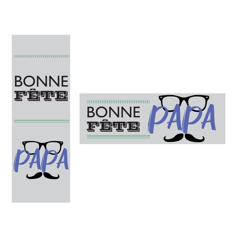 Kit d'affiches fête des pères - 1 affiche 115x40 cm + 1 affiche 40x115cm - N°2 (photo)