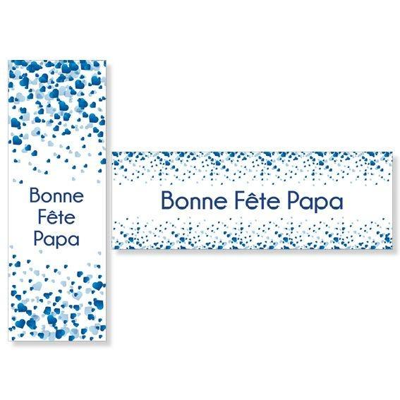 Kit d'affiches fête des pères pluie de coeurs 1 affic 115x40cm +1 affic 40x115cm