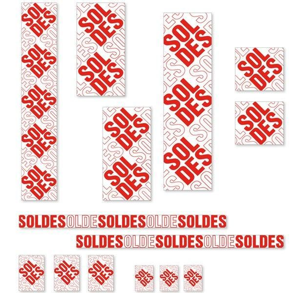 Kit affiches soldes Contemporain avec cartons A4 et A5 - pack 3