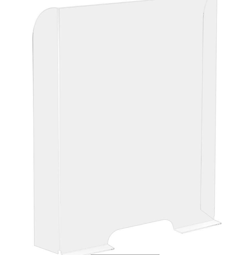 Ecran protection L 68 x H 95 cm avec découpe accès H 1 cm - HYGIAPHONE - par 20 (photo)