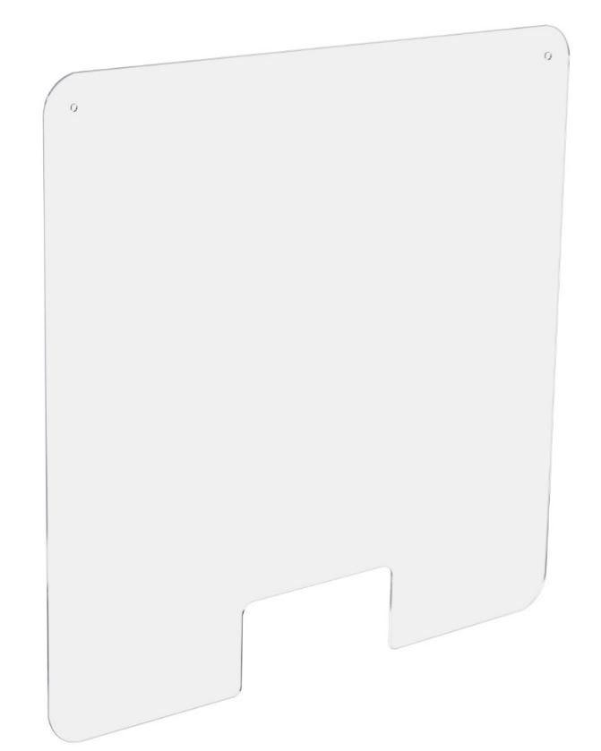 Ecran de Protection Hygiaphone perfore Larg. 66 x Haut. 100 cm - Access Central (photo)