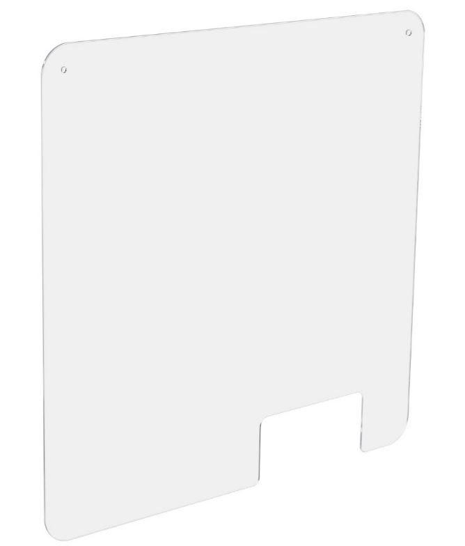 Ecran de Protection Hygiaphone perfore Larg. 66 x Haut. 100 - Access Cote Droite (photo)