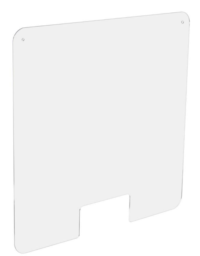 Ecran de Protection Hygiaphone perfore Larg. 100 x Haut. 66 cm - Access Central (photo)