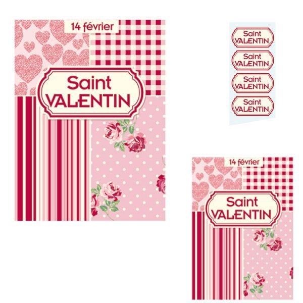 Kit d'affiches et étiquettes cadeaux Saint-Valentin (photo)