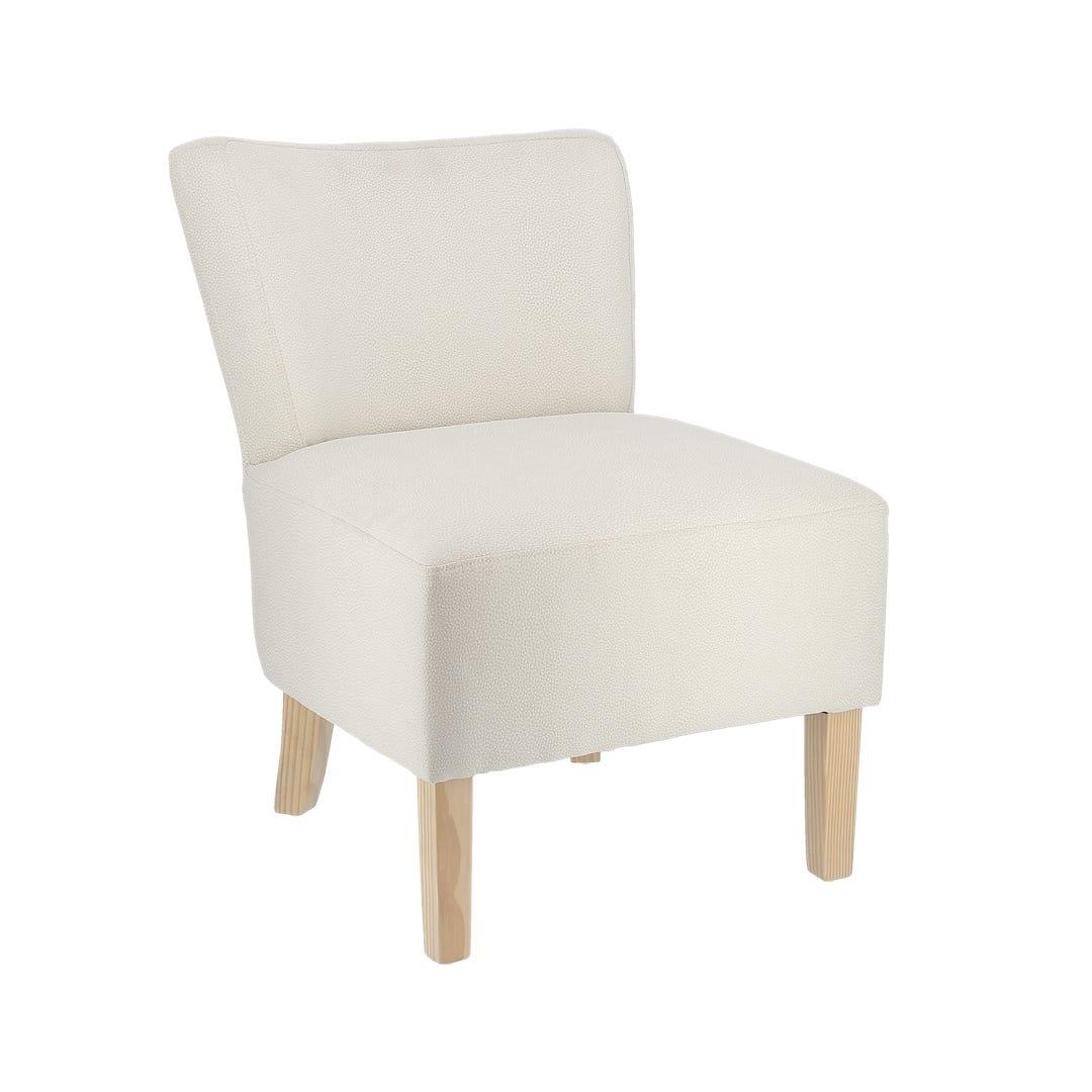 Chaise fauteuil microfibre crème par 2