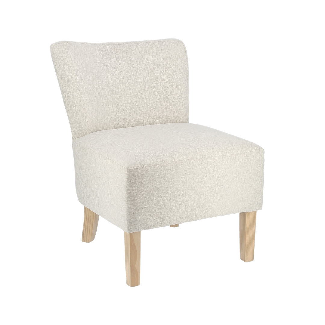 Chaise fauteuil microfibre crème par 1