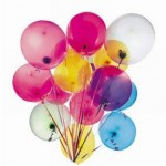 Ballons couleurs assorties par 100