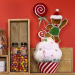 Cupcake Candy avec biscuit  H 50 cm