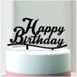 Décor shadow happy birthday 13 x 17 cm - par 6 lots de 1