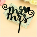 Décor shadow mr loves mrs 12 x 14.5 cm - par 6 lots de 1