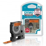 Dymo d1 vinyle ruban d'etiquette hp12 mm x 3 m noir/orange