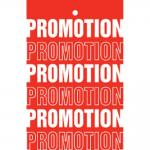 Etiquette à trou promotions tradition rouge 55x85mm par 250