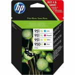 Hp pack 4 cartouches d'origine 950xl + 951xl n / c / m / y