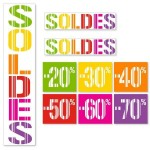 Kit affiches soldes Gencod Multicolore - pack 1
