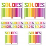 Kit affiches soldes Gencod Multicolore - pack 4