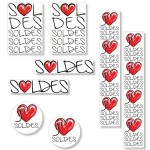 Kit affiches soldes J'aime - pack 1