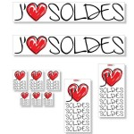 Kit affiches soldes J'aime - pack 2