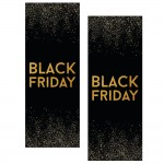 Kit d'affiches N°2 Black Friday noir 2 affiches 30x82cm