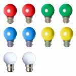 Lampe LED 1W B22 couleurs lot de 10