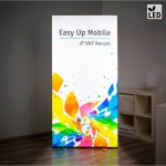Mur lumineux LED ''Easy Up Mobile'' avec impression