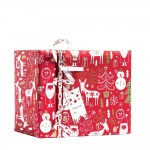 "Papier cadeau ""Happy Santa"" rouge 0,70 x 50 m"