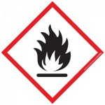 Pictogramme sgh02 matières inflammables 40 x 40 mm