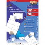 Pochette 200 cartes blanches microline - 185g 105 x 70 mm