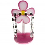 Porte bijoux presentoir collier pour enfant sweet (4 colliers) rose