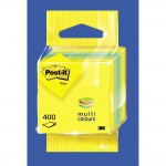 Post-it mini cube jaune citron