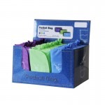 Sac pliable in the pocket - 44x36cm bleu-vert-violet - par 60