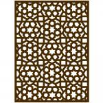 Sticker moucharabieh marron - 84 x 120 cm
