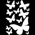 Stickers 13 papillons blancs