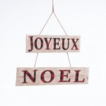 "Suspension ""Joyeux Noel"" L 65 x H 41 cm"