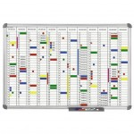 Tableau de planning annuel office 60 x 90 cm gris