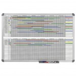 Tableau de planning annuel office 90 x 120 cm gris