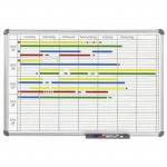 Tableau de planning universel office 60 x 90 cm gris
